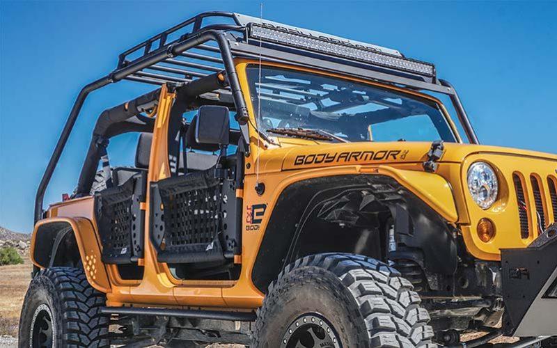 Body Armor 4×4 Jeep JK Overlander Knuckle Joint Rack System
