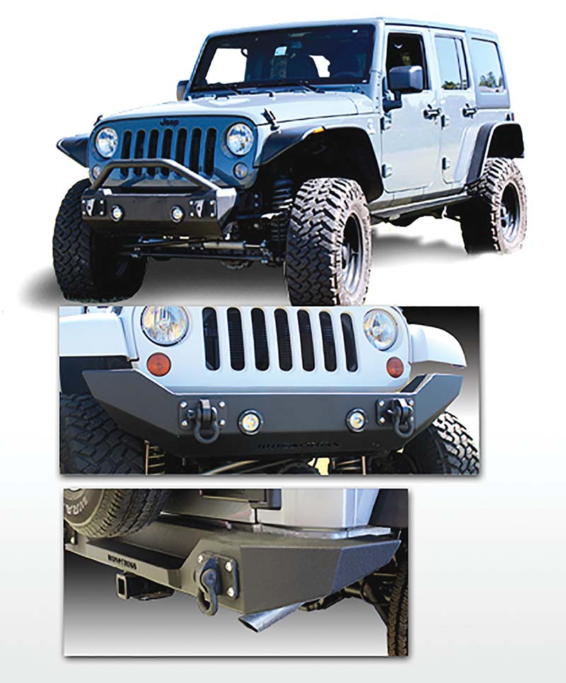 Front And Rear Jeep Bumpers From Iron Cross Automotive