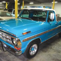 Some of the trucks that the company owns - such as this Ford pickup - are either pristine originals or a perfectly restored example.