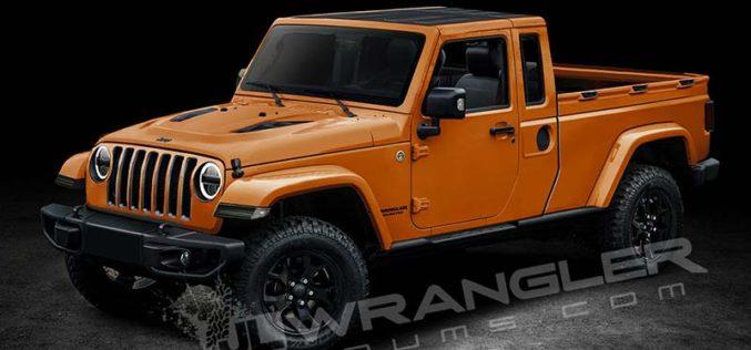 Renderings of Upcoming Jeep Wrangler Pickup Released Online