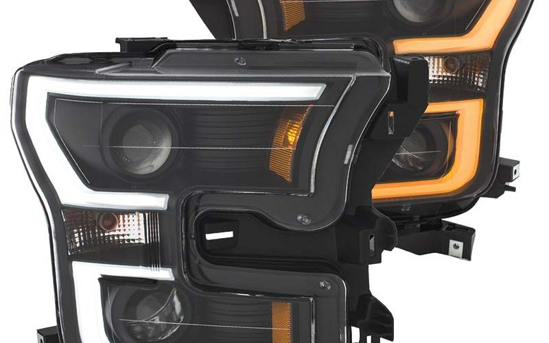 Anzo USA Switchback LED Headlights for Ford F-150