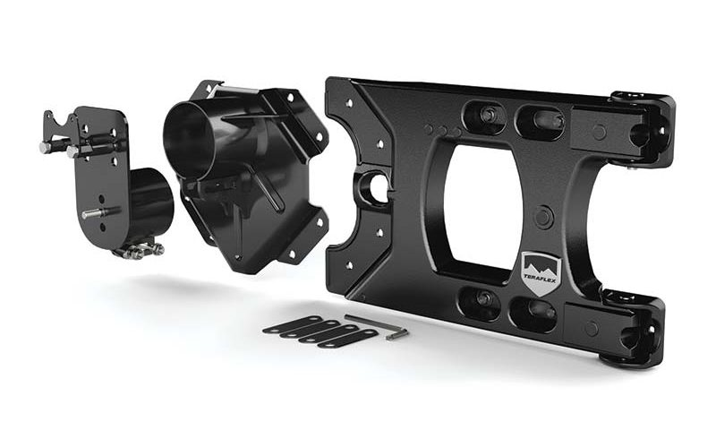 Jeep Wrangler JK Hinged Carrier and Adjustable Spare Tire Mounting Kit from TeraFlex