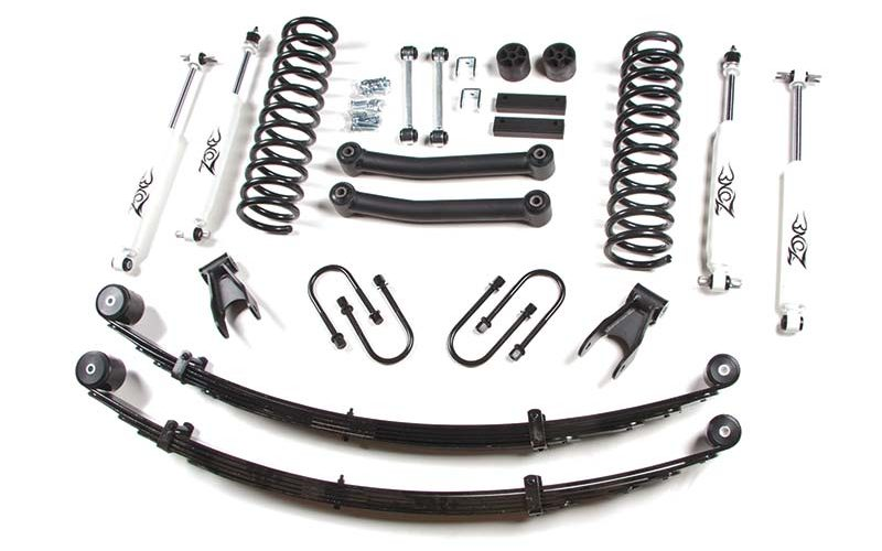 Zone Offroad 4-1/2-Inch Suspension System for Jeep XJ