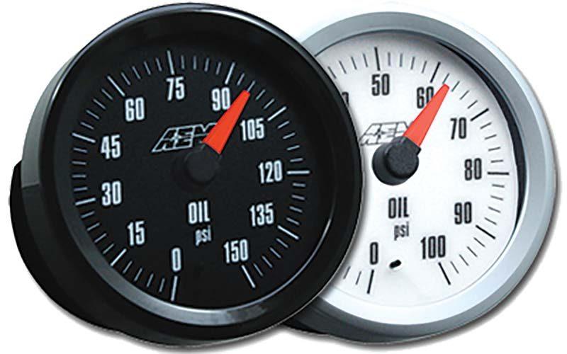 AEM Analog Style Oil Pressure Gauge