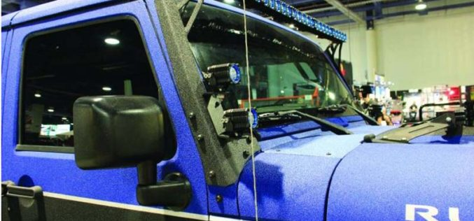 Go Industries Jeep Windshield Light Bar Bracket
