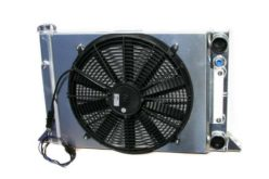 Meziere Sportsman-Style Radiator with Fan and Shroud