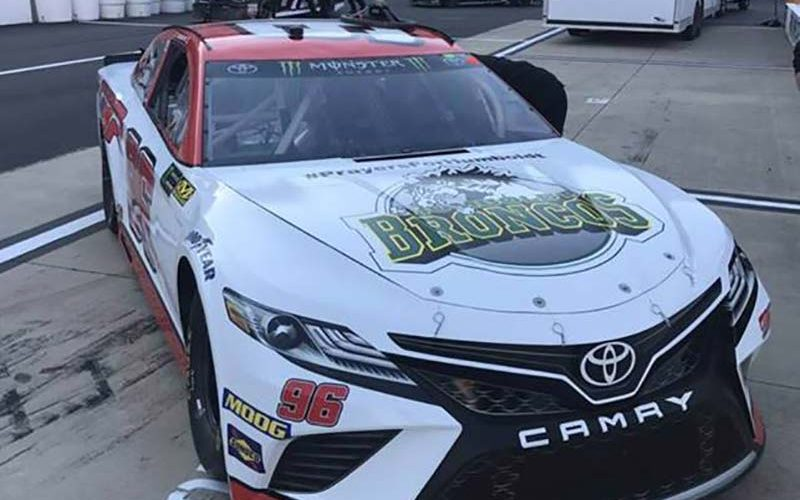 Canadian Racer D.J. Kennington Pays Tribute to Humboldt Victims at Past Weekends NASCAR Race