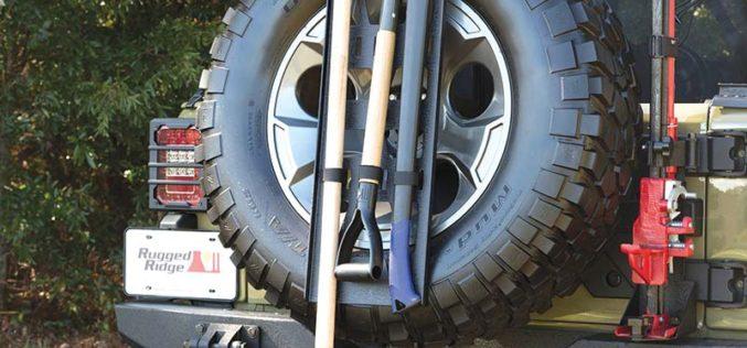 Rugged Ridge Spare Tire Tool Rack System