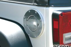 Rampage Products Billet-Style Gas Cover for Jeep Wrangler