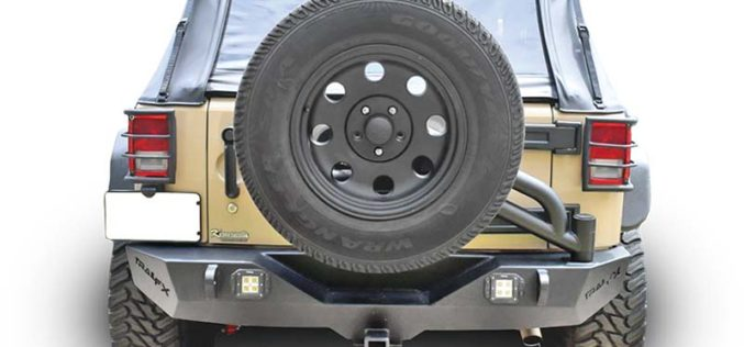 TrailFX Rear Bumper with Tire Carrier for Jeep JK